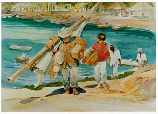 old man and the sea characterization essay Free essay: in hemingway's the old man and the sea, we meet the old man  santiago, who is a persistent, hardy, and prideful individual.